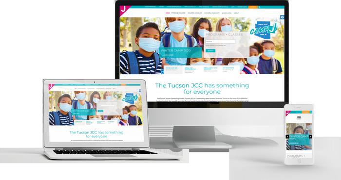 TucsonJCC.org website designed by Single Focus Web